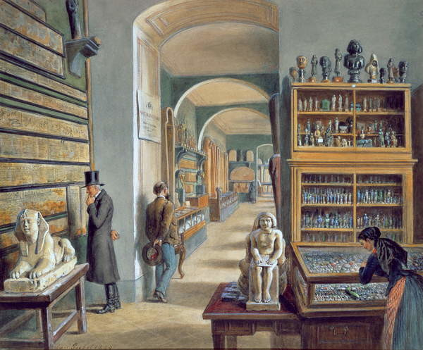 The second room of Egyptian antiquities in the Ambraser Gallery of the Lower Belvedere, 1879 Slika na platnu
