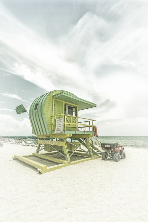 Umjetnička fotografija Vintage Florida Flair At Miami Beach