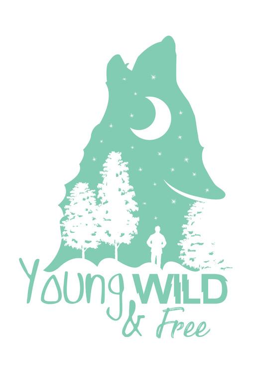Umjetnička fotografija Young, Wild & Free - Blue