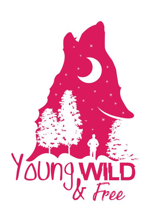 Umjetnička fotografija Young, Wild & Free - Pink