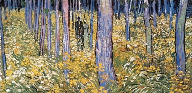 Undergrowth with Two Figures, 1890 Reproduction d'art