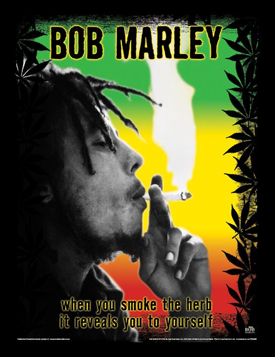 Bob Marley - Herb Uramljeni poster