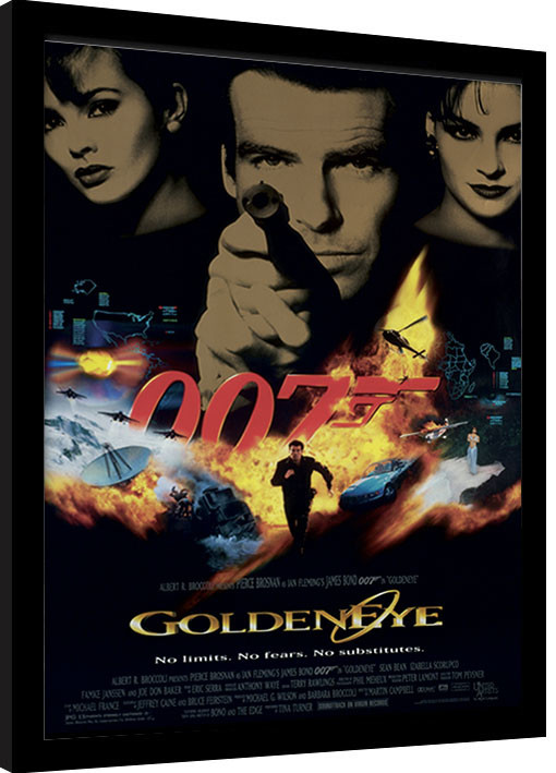 Uramljeni poster JAMES BOND 007 - Goldeneye