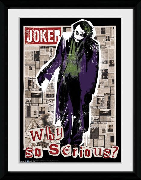 Batman The Dark Knight - Why So Serious uokvirjen plakat-pleksi