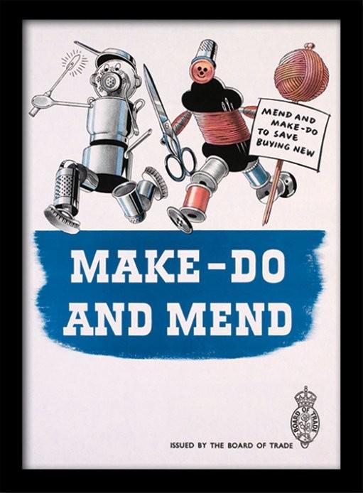 IWM - Make Do & Mend uokvirjen plakat-pleksi