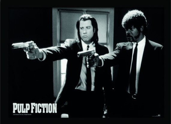 Uokvirjeni plakat PULP FICTION - guns