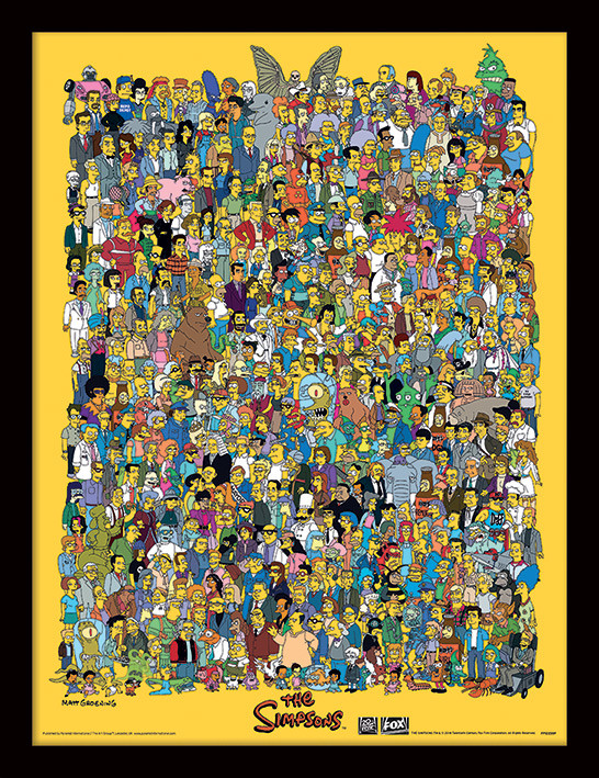 The Simpsons - Characters Uokvirjeni plakat
