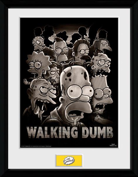 The Simpsons - The Walking Dumb Uokvirjeni plakat