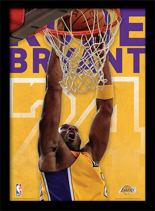 NBA - Kobe Bryant Uokvirjen plakat-pleksi