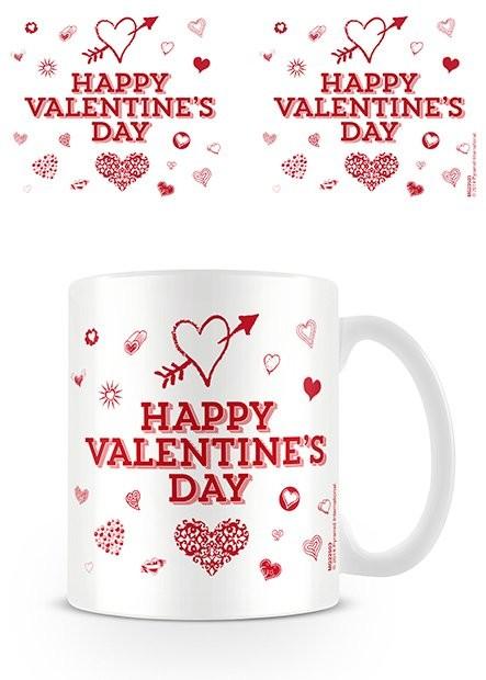 Csésze Valentin nap - Happy