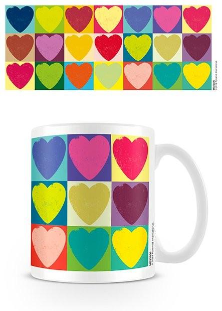Csésze Valentin nap - Pop Art Hearts