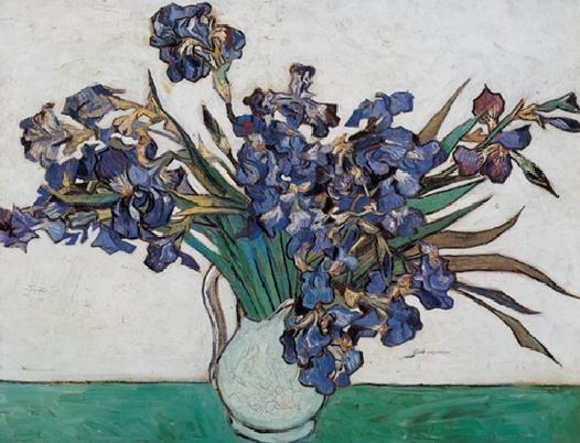Vase with Irises, 1890 Festmény reprodukció