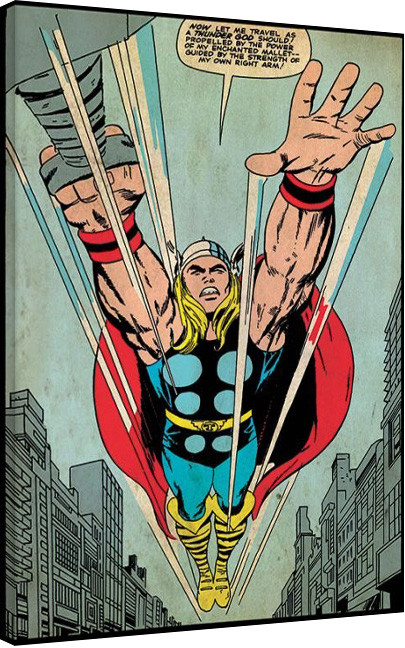 Vászon Plakát Thor - Thundergod