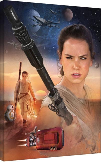Vászonkép Csillagok háborúja VII (Star Wars: Az ébredő Erő) - Rey Art