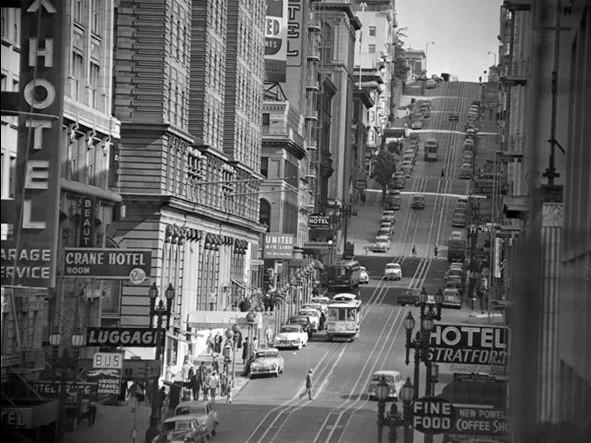 View of Powel street in San Francisco, 1953 Festmény reprodukció