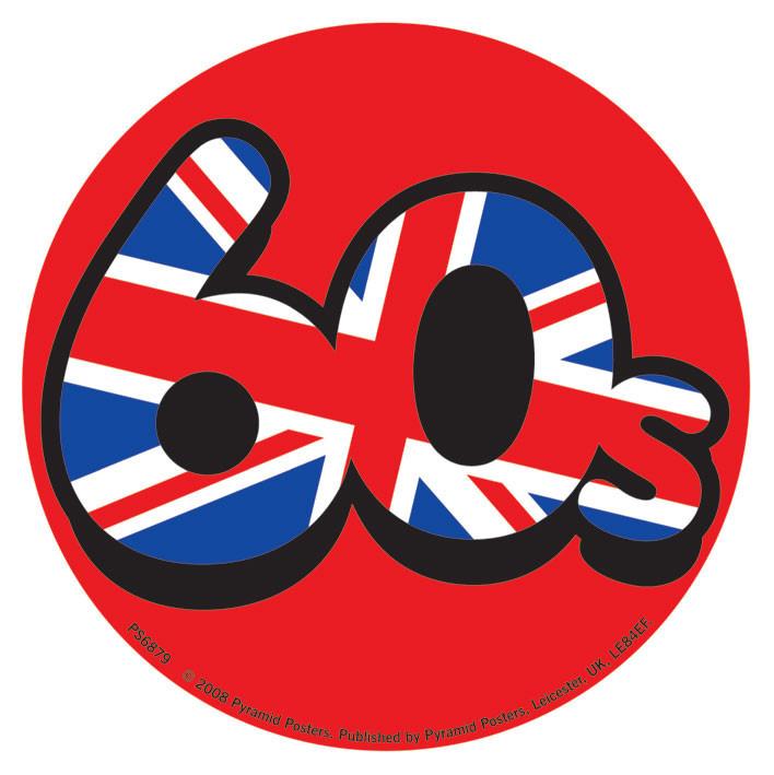 60'S UNION JACK Vinilne nalepka
