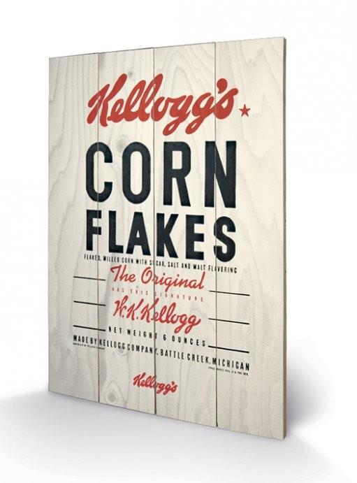 Poster su legno VINTAGE KELLOGGS - corn flakes