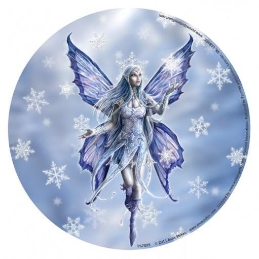 ANNE STOKES - snow fairy Vinylklistermärken