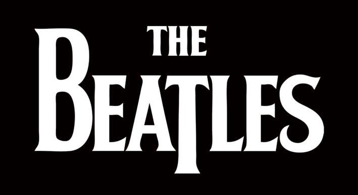 BEATLES - white logo Vinylklistermärken