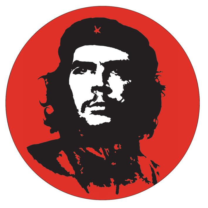 CHE GUEVARA - red Vinylklistermärken