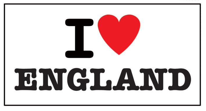 I LOVE ENGLAND Vinylklistermärken