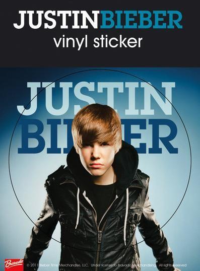 JUSTIN BIEBER - jacket Vinylklistermärken