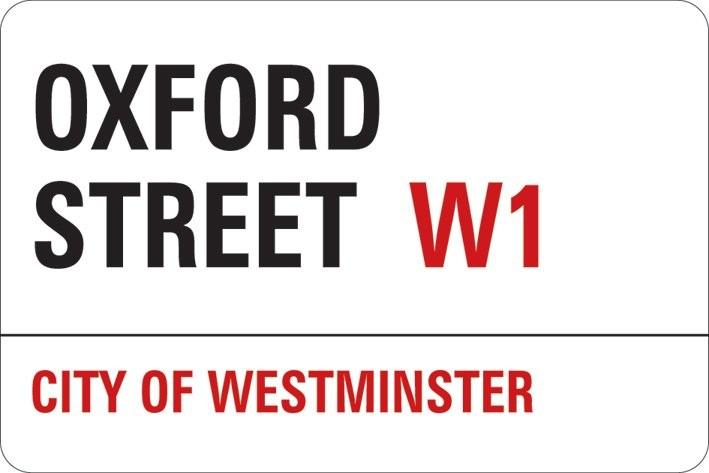 LONDON - oxford street Vinylklistermärken