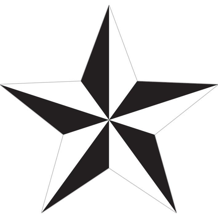 NAUTICAL STAR - white Vinylklistermärken