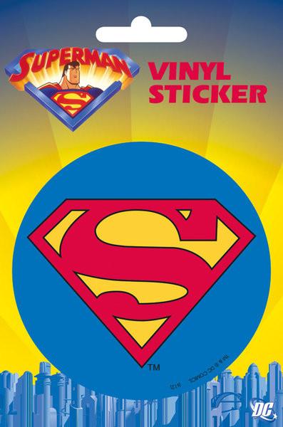 SUPERMAN - classic logo  Vinylklistermärken