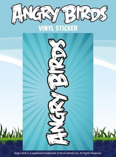 ANGRY BIRDS – logo Vinyl klistermærker