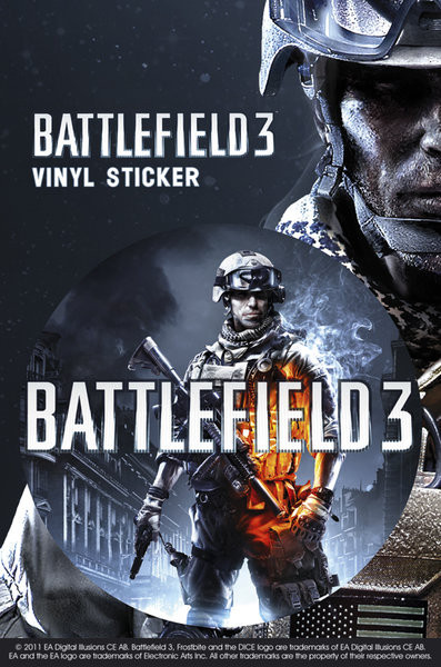 Battlefield 3 – limited edition Vinyl klistermærker