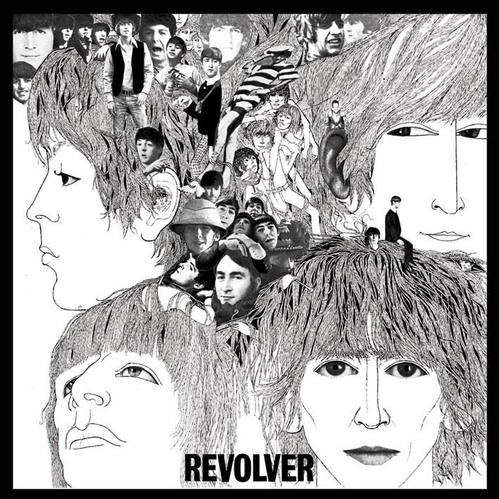 BEATLES - revolver Vinyl klistermærker