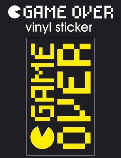 GAME OVER Vinyl klistermærker