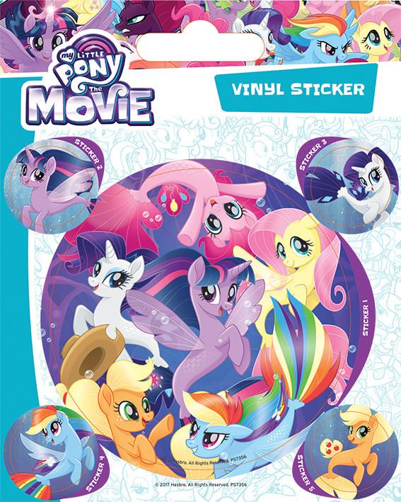 Dejlig My Little Pony Movie - Sea Ponies Klistermærke på Europosters.dk FH-44