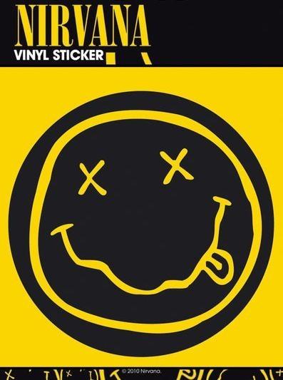 NIRVANA SMILEY Vinyl klistermærker