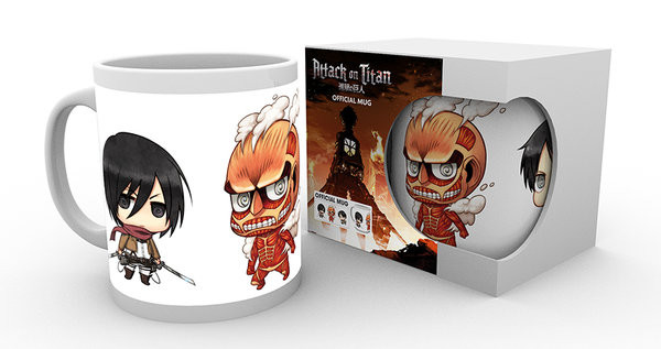 Attack on Titan (Shingeki no kyojin) - Chibi 2 Skodelica