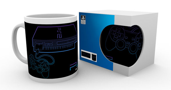 Playstation - PS2 Lineart Skodelica