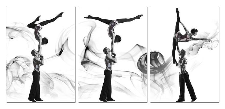 Wandbilder A couple of acrobatic dancers