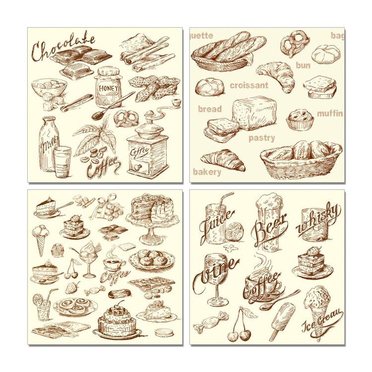 Wandbilder Café and Bakery