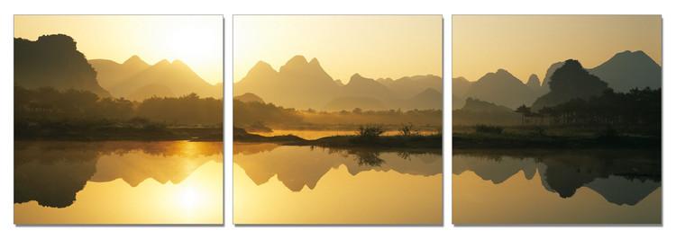 Wandbilder China - Calm Water in the Mountains