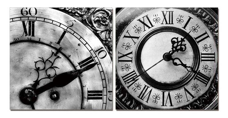Wandbilder Designer clocks (B&W)