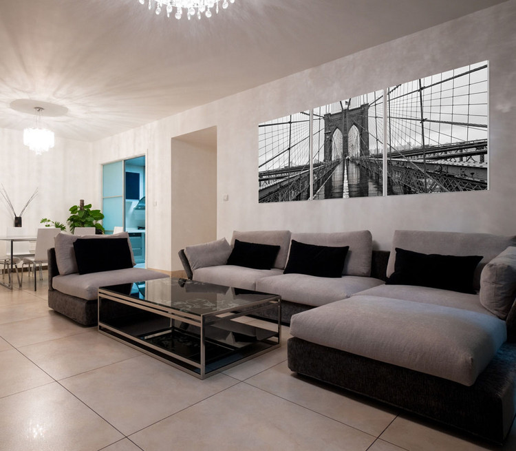 wandbilder bilder new york brooklyn bridge b w bei. Black Bedroom Furniture Sets. Home Design Ideas