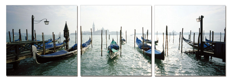 Wandbilder Venice - Port for Gondolas