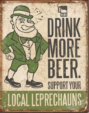 Metalen wandbord BEER - Drink More