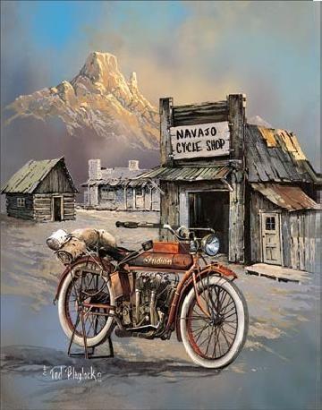 Metalen wandbord BLAYLOCK - apache high speed
