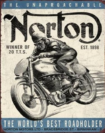 Metalen wandbord NORTON - winner