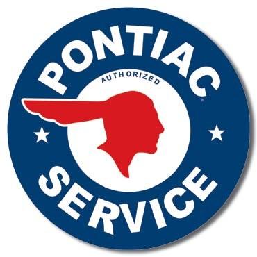 Metalen wandbord PONTIAC SERVICE