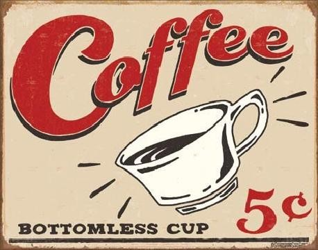 Metalen wandbord SCHOENBERG - coffee scents