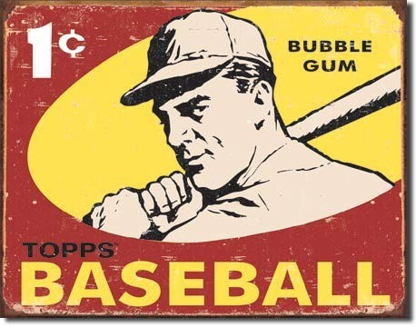 Metalen wandbord TOPPS - 1959 baseball