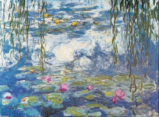 Water Lilies, 1916-1919 Festmény reprodukció